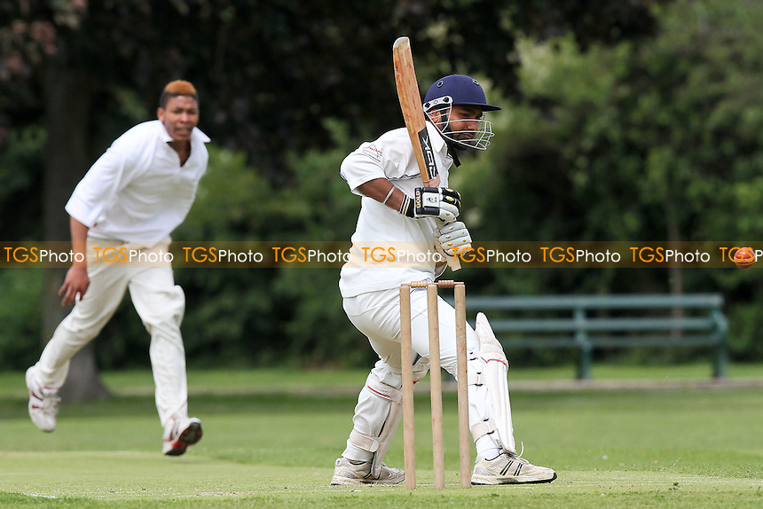 L Gill in batting action for Hornchurch Athletic - Hornchurch Athletic CC vs Hawks CC - Essex Cricket League at Hylands Park - 23/06/12 - MANDATORY CREDIT: Gavin Ellis/TGSPHOTO - Self billing applies where appropriate - 0845 094 6026 - contact@tgsphoto.co.uk - NO UNPAID USE.