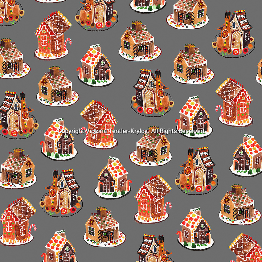Lots of gingerbread house cakes ExclusiveImage