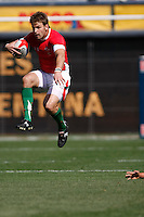 February 14 2009, San Diego, CA, USA:  The IRB USA Sevens Tournament at Petco Park in Downtown San Diego.  A Welsh player gets airborne to avoid a tackle during day one action.