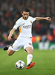 Alessandro Florenzi of AS Roma during the Champions League Semi Final 1st Leg match at Anfield Stadium, Liverpool. Picture date: 24th April 2018. Picture credit should read: Simon Bellis/Sportimage
