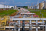 Refinaria de petróleo da Petrobrás, REPLAN. Paulínia. São Paulo. 2008. Foto de Juca Martins.