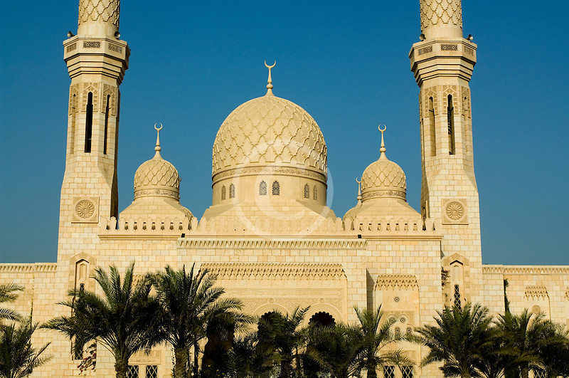 United Arab Emirates, Dubai, Mosque and minarets