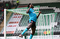 Fleetwood Town's Jordy Hiwula celebrates scoring his side's first goal<br /> <br /> Photographer Andrew Kearns/CameraSport<br /> <br /> The EFL Sky Bet League One - Plymouth Argyle v Fleetwood Town - Saturday 7th October 2017 - Home Park - Plymouth<br /> <br /> World Copyright &copy; 2017 CameraSport. All rights reserved. 43 Linden Ave. Countesthorpe. Leicester. England. LE8 5PG - Tel: +44 (0) 116 277 4147 - admin@camerasport.com - www.camerasport.com
