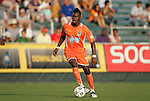 23 June 2012: Carolina's Gale Agbossoumonde. The Carolina RailHawks defeated FC Edmonton 2-0 at WakeMed Soccer Stadium in Cary, NC in a 2012 North American Soccer League (NASL) regular season game.