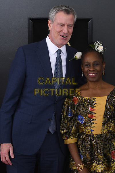 NEW YORK, NY - JANUARY 28: Bill de Blasio and Chirlane McCray at the 60th Annual GRAMMY Awards at Madison Square Garden on January 28, 2018 in New York City. <br /> CAP/MPI/JP<br /> &copy;JP/MPI/Capital Pictures
