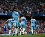 Gabriel Jesus of Manchester City celebrates his goal during the English Premier League match at the Etihad Stadium, Manchester. Picture date: May 13th 2017. Pic credit should read: Simon Bellis/Sportimage