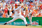 30 June 2005: Chad Cordero, all-star closing pitcher for the Washington Nationals, on the mound during a game against the Pittsburgh Pirates. The Nationals defeated the Pirates 7-5 to sweep the 3-game series at RFK Stadium in Washington, DC.  Mandatory Photo Credit: Ed Wolfstein