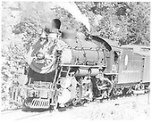 D&amp;RGW #1210 with passenger consist west of Plainview.<br /> D&amp;RGW  west of Plainview, CO  7/21/1938