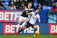 Bolton Wanderers' Filipe Morais vies for possession with  Fulham's Tom Cairney<br /> <br /> Photographer Andrew Kearns/CameraSport<br /> <br /> The EFL Sky Bet Championship - Bolton Wanderers v Fulham - Saturday 10th February 2018 - Macron Stadium - Bolton<br /> <br /> World Copyright &copy; 2018 CameraSport. All rights reserved. 43 Linden Ave. Countesthorpe. Leicester. England. LE8 5PG - Tel: +44 (0) 116 277 4147 - admin@camerasport.com - www.camerasport.com