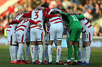 Doncaster Rovers players huddle before Doncaster Rovers vs Crystal Palace, Emirates FA Cup Football at the Keepmoat Stadium on 17th February 2019