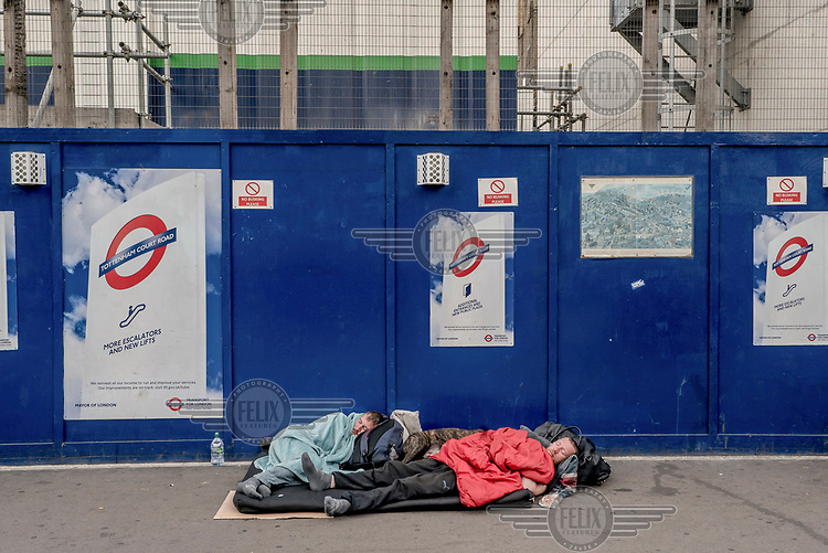 Rough sleepers near Tottenham Court Road.