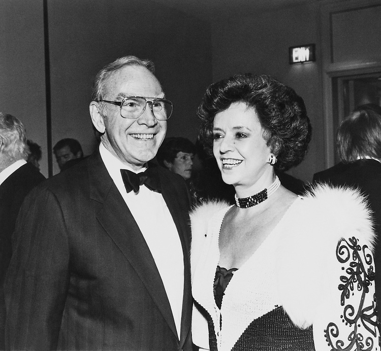 The Wrights at a Peace Lints event. Captain Hilten Betty Wright - 88 temporary Chain. December 18, 1988 (Photo by Andrea Mohin/CQ Roll Call)