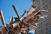 Museum of Contemporary Art, Los Angeles (MOCA) contemporary, art museum, Nancy Rubins Sculpture, MOCA, American, European, contemporary art, created since 1940, Grand Avenue, Downtown, Los Angeles, CA