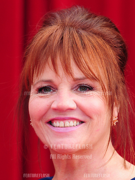 Lesley Dunlop arrives for the 2011 Soap Awards held at Granada Studios in Manchester. 14/05/2011. Picture by Simon Burchell/Featureflash