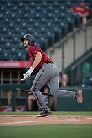 AZL Diamondbacks third baseman Joe Gillette (6) hits a two-run home run during an Arizona League game against the AZL Angels at Tempe Diablo Stadium on June 27, 2018 in Tempe, Arizona. The AZL Angels defeated the AZL Diamondbacks 5-3. (Zachary Lucy/Four Seam Images)