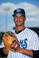 Tampa Tarpons pitcher Albert Abreu (36) poses for a photo before a game against the Fort Myers Miracle on May 2, 2018 at George M. Steinbrenner Field in Tampa, Florida.  Fort Myers defeated Tampa Tarpons 5-0.  (Mike Janes/Four Seam Images)