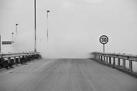 Daytime landscape view of a Road With Smoke in Binhai, China.  © LAN