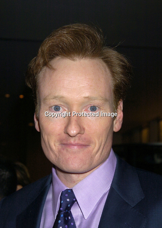 Conan O'Brien ..at the NYC and Company dinner honoring leaders in ..Tourism:  including American Express's Ken Chenault, ..NBC Universal's Bob Wright, Nicole Miller and Joseph Spinnato  on December 13, 2004 at the Museum of Modern ..Art. ..Photo by Robin Platzer, Twin Images
