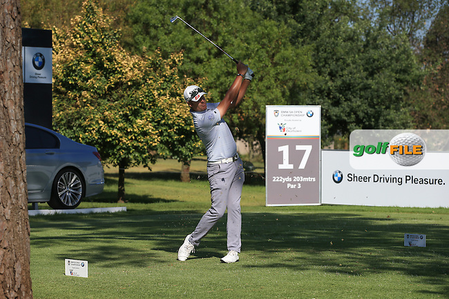 Jacques Blaauw (RSA) makes a birdie on 17 good enough for the weekend during the completion of Round Two of the 2016 BMW SA Open hosted by City of Ekurhuleni, played at the Glendower Golf Club, Gauteng, Johannesburg, South Africa.  09/01/2016. Picture: Golffile | David Lloyd<br /> <br /> All photos usage must carry mandatory copyright credit (&copy; Golffile | David Lloyd)