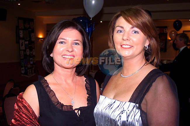 Lurraine Mulroy and Marie Connell at the Round Table Dinner in the Glenside Hotel...Pic Tony Campbell/Newsfile