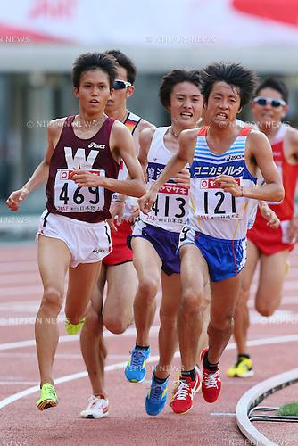 (L to R) <br /> Suguru Osako, <br /> Tsuyoshi Ugachi (JPN), <br /> JUNE 8, 2013 - Athletics : <br /> The 97th Japan Track &amp; Field National Championships <br /> Men's 10000m Final <br /> at Ajinomoto Stadium, Tokyo, Japan. <br /> (Photo by YUTAKA/AFLO SPORT)