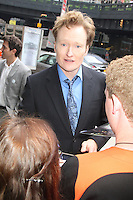 May 16, 2012 Conan O'Brien attends the TNT/TBS 2012 Upfront Lunch reception at Del Posto in New York City. Credit: RW/MediaPunch Inc.