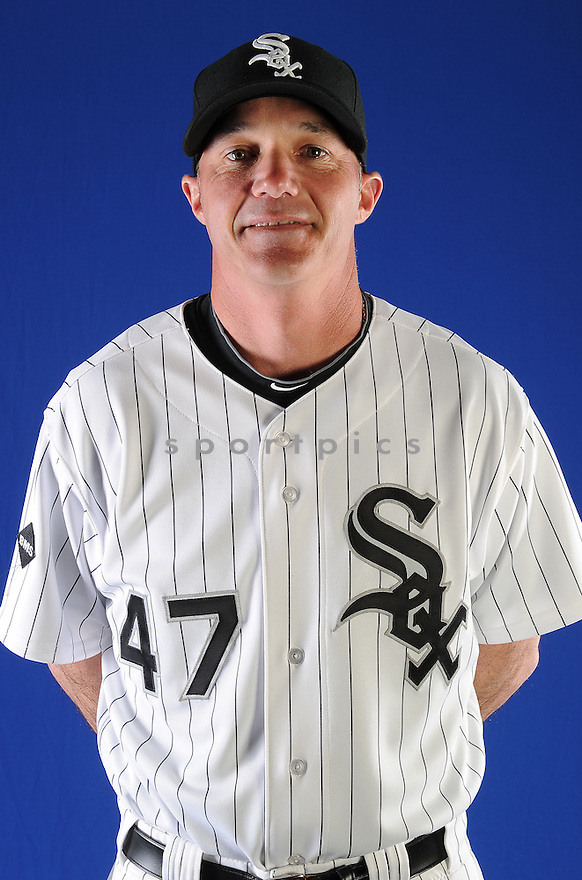 Chicago White Sox Joe McEwing (47) at media photo day on February 19, 2013 during spring training in Glendale, AZ.