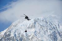 Blackhawk helicopter on Denali