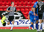St Johnstone v St Mirren...11.09.10  .Sean Lynch celebrates his goal.Picture by Graeme Hart..Copyright Perthshire Picture Agency.Tel: 01738 623350  Mobile: 07990 594431