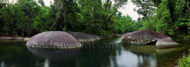 The Boulders - a popular freshwater swimming area near Babinda, Queensland, Australia