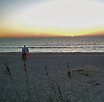 couple enjoying Florida beach sunset