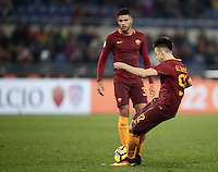 Calcio, Serie A: Roma vs ChievoVerona. Roma, stadio Olimpico, 22 settembre 2016.<br /> Roma&rsquo;s Stephan El Shaarawy scores on a free kick during the Italian Serie A football match between Roma and Chievo Verona, at Rome's Olympic stadium, 22 December 2016.<br /> UPDATE IMAGES PRESS/Isabella Bonotto