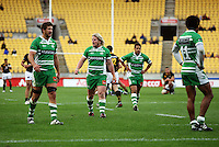Manawatu players look lost as the endure a second-half trouncing. Air NZ Cup - Wellington Lions v Manawatu Turbos at Westpac Stadium, Wellington, New Zealand. Saturday 3 October 2009. Photo: Dave Lintott / lintottphoto.co.nz