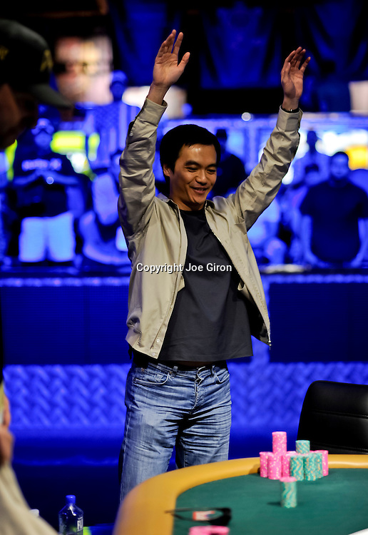 John Juanda acknowledges the crowd after his victory.