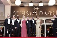 "John Cusack Matthew Mcconaughey David Oyelowo Nicole Kidman Zac Efron Lee Daniels Macy Gray - "" Paperboy "" premiere at the 65th Cannes Film Festival at the Palais des Festivals..May 24th, 2012."