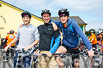 At the CYCLE AGAINST SUICIDE: The Tralee SpinOff at Austin Stacks GAA Club on Saturday were Duncan Van Woerkaom, Floris Van Woerkaom and Ethan Van Woerkaom from Ballyheigue