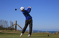 Paul Waring during Round Two of the West of England Championship 2016, at Royal North Devon Golf Club, Westward Ho!, Devon  23/04/2016. Picture: Golffile | David Lloyd<br /> <br /> All photos usage must carry mandatory copyright credit (&copy; Golffile | David Lloyd)