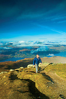 Loch Lomond and the Arrochar Alps from the Munro of Ben Lomond, Loch Lomond and the Trossachs National Park, Stirlingshire