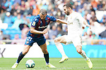 Real Madrid's Daniel Carvajal (r) and Levante UD's Borja Mayoral during La Liga match. September 14,2019. (ALTERPHOTOS/Acero)