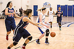 Southwestern Christian University and the Arlington Baptist Patriots in action at the ABC arena in Arlington, Texas.
