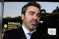 SAO PAULO, SP, 20 FEVEREIRO 2013 - JULGAMENTO- Gil Rugai.Advogado Tiago Anastacio de Gil Rugai no Forum da Barra Funda(FOTO: ADRIANO LIMA / BRAZIL PHOTO PRESS).