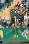 24 September 2016: Dartmouth College Big Green Defender/Midfielder Jonathan Nierenberg, a Junior from Sand Point, NY, takes a header close to teammate Braden Salvati, a Freshman from Del Mar, CA, during play against the University of Vermont Catamounts at Virtue Field in Burlington, Vermont. The teams played to an overtime 1-1 tie in front of an Alumni Weekend crowd of 1,710 fans. Mandatory Credit: Ed Wolfstein Photo *** RAW (NEF) Image File Available ***