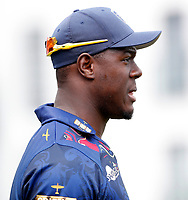 Carlos Braithwaite looks on during the T20 friendly between Kent and the Netherlands at the St Lawrence Ground, Canterbury, on July 3, 2018