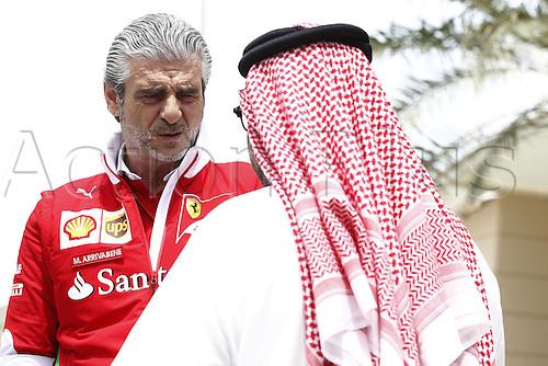 01.04.2016. Bahrain. FIA Formula One World Championship 2016, Grand Prix of Bahrain, Practise day.   Maurizio Arrivabene (ITA, Scuderia Ferrari)