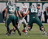 Ohio State Buckeyes defensive tackle Michael Bennett (63) against Michigan State Spartans at Spartan Stadium in East Lansing, Michigan on November 8, 2014.  (Dispatch photo by Kyle Robertson)