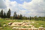 Israel, Western Samaria, Hurvat Tinshemet in Shoham forest park
