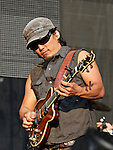 Michael Kang of The String Cheese Incident performs during the Hangout Music Fest in Gulf Shores, Alabama on May 19, 2012.