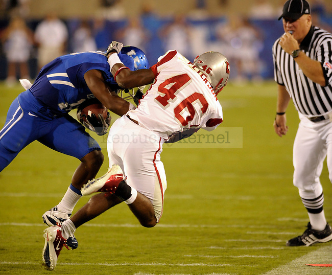 in the first half of the UK vs WKU home game on  Saturday, September 11, 2010. Photo by Mike Weaver | Staff