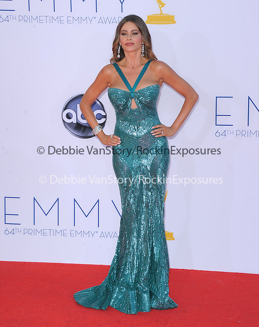 Sofia Vergara at The 64th Anual Primetime Emmy Awards held at Nokia Theatre L.A. Live in Los Angeles, California on September  23,2012                                                                   Copyright 2012 Hollywood Press Agency