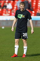 George Byers of Swansea City warms up prior to the game during the Sky Bet Championship match between Nottingham Forest and Swansea City at City Ground, Nottingham, England, UK. Saturday 30 March 2019